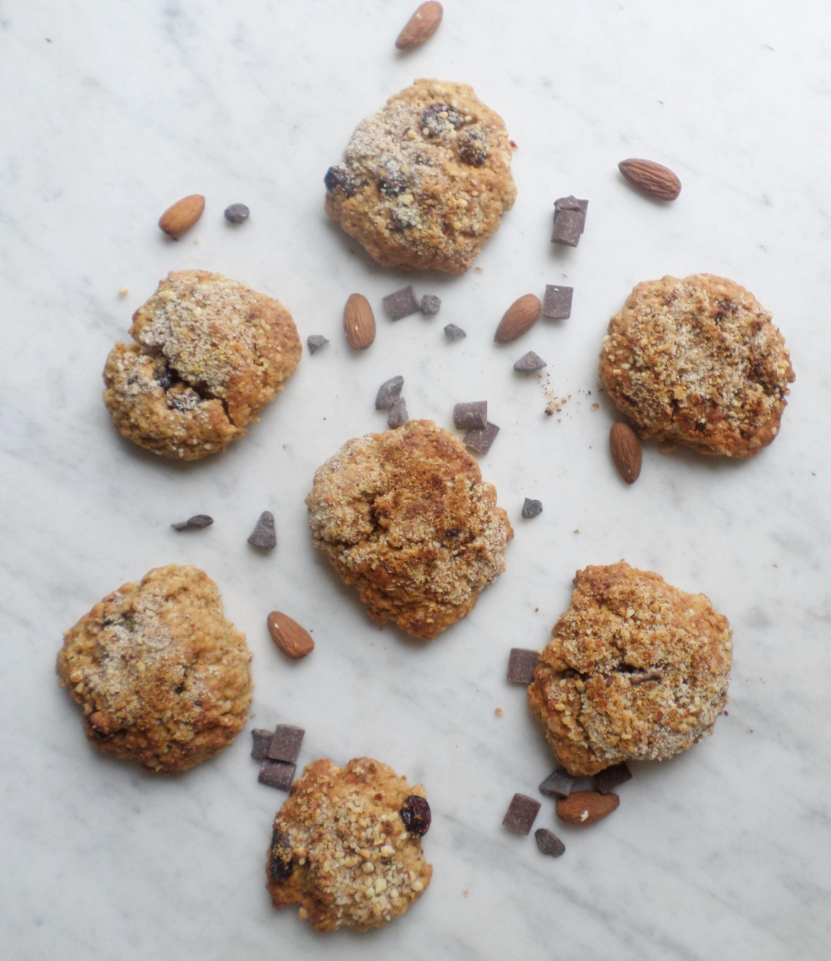 Cookies moelleux aux flocons d'avoine et amande